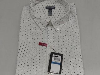 Van Heusen Men s Flex Printed Non Iron Short Sleeve Shirt  Size Xl