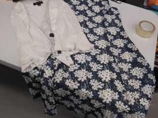 women s large dress and sweater
