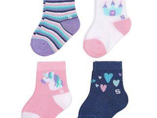 Baby Girl   Toddler Girl Jumping Beans 3 pk  Polka Dot Crew Socks  Toddler Girl s  Size  2T 4T  Blue  MISSING 1 PAIR