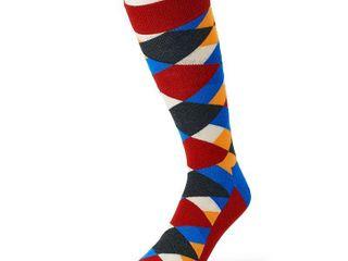 Men s HS by Happy Socks Patterned Crew Socks  Size  13 16  Red