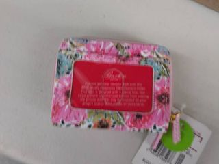 Buxton Spring In Bloom Rfid Wizard Wallet One Size Pink Multi