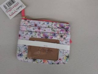 Womens Buxton large I D  Coin Card with RFID Protection