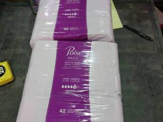 2 Packages of Poise Pads