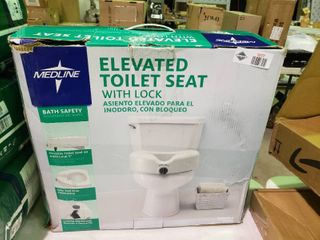 Medline Elevated Toilet Seat with lock