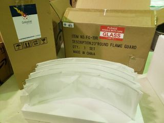 Celestial Fire Glass 23  Round Flame Guard