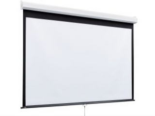 New 10 x 10 wall mount movie screen great for outdoor theaters hang from your deck on the side of your house or in your movie room retails for  595 new in box