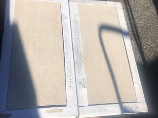 Case of three large floor or wall tiles 17 x 36 nice Beige tone colors as pictured