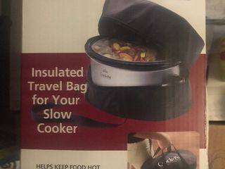 New thermal crockpot bag keep crockpot warm while traveling