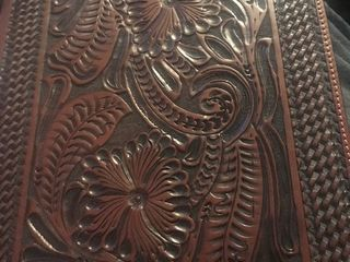 Nice tooled leather note paper case very beautiful