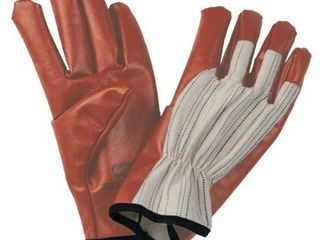Dozen Pair   North by Honeywell Worknit HD Supported Nitrile Gloves  Band Cuff  Cotton lined  Medium  BK Stripe