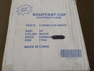latex Free Bouffant Cap 24  Bag of 100