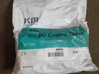 KM Purely Advanced Top PU Coated Gloves 10 Pairs large