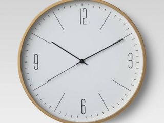 20  Brushed Brass Wall Clock   Project 62  RETAIl  30