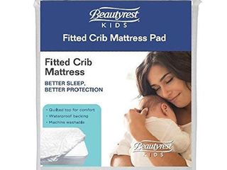 Beautyrest Kids Fitted Crib Mattress Pad   Waterproof  RETAIl  19 99