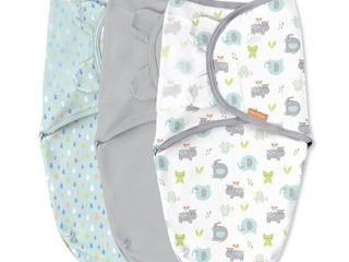 SwaddleMe Original Swaddle Wrap Small Medium 0 3 M   3 Pack  Jungle Drops   RETAIl  29 99
