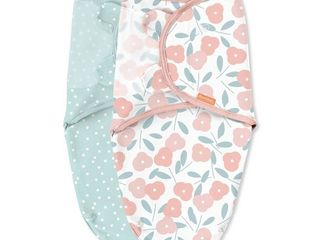 SwaddleMe Original Swaddle Wrap Small Medium 0 3 M   2 Pack  Petals   Dots   RETAIl  24 99
