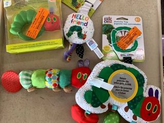 ERIC CARlE Baby Toy lOT  Activity Toy  Rattle  Teether  Stroller Toy  RETAIl  50