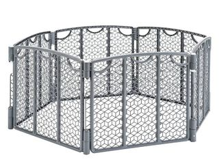 Evenflo Versatile Play Space  Indoor   Outdoor Play Space  Portable  18 5 Square Feet of Enclosed Space  Cool Gray  RETAIl  64 99
