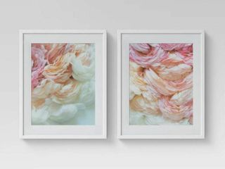 Set of 2  16  x 20  Floral Photography Framed Print   Opalhouse  RETAIl  50
