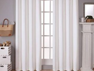 SET OF 2  Exclusive Home Curtains Sateen Twill Woven Blackout Grommet Top Curtain Panel Pair  52x108  Vanilla  RETAIl  49 99