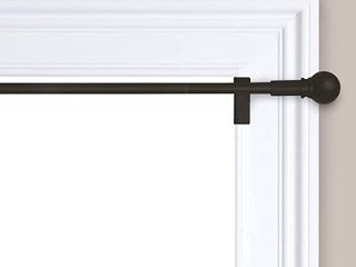 Twisted and Shout Curtain Rod   Room Essentials  Matte Black 48 84   RETAIl  24 49