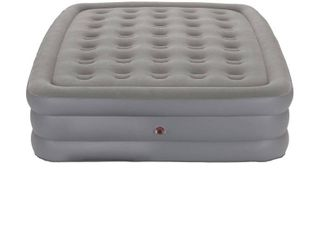 Coleman GuestRest Double High Air Mattress Queen   Gray w  Storage Bag  RETAIl  49 99