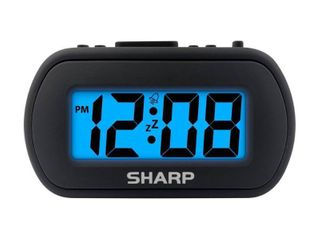 lOT OF 2 Sharp Travel Digital Alarm Clock   1 Black  1 White  RETAIl  11 98