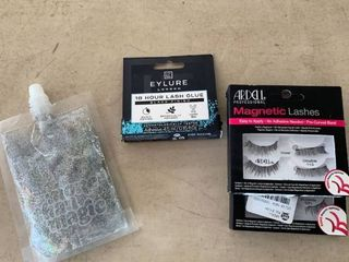 Beauty lot  8 Sets Magnetic False Eyelashes  Eyelash Glue   Silver Body Glitter