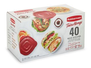 Rubbermaid TakeAlongs 40 Piece Food Storage Container Set in Red   Bonus Piece  RETAIl  14 99