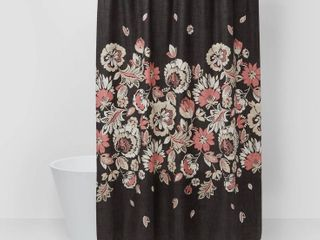 Floral Fabric Shower Curtain   Threshold  RETAIl  20 00