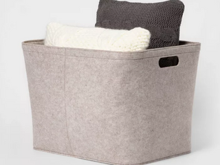 large Felt Storage Basket with Stitching   Project 62  RETAIl  24 00