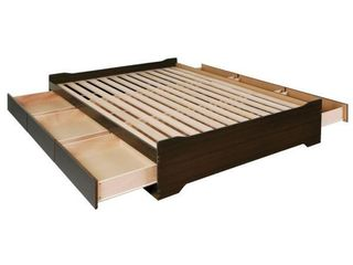 Prepac Platform Storage Bed with 6 Drawers   Appears to be a Full or Queen Size