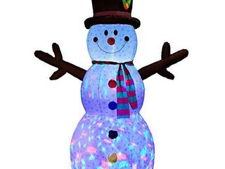 PRAISUN 8Ft Christmas Inflatable Yard Decor   Blow Up lighted Snowman   Outdoor Indoor  w  lED lights