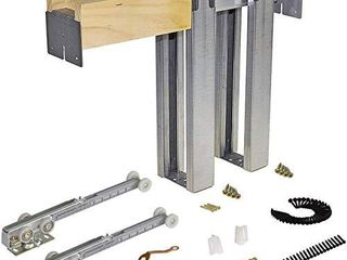 Johnson Hardware 1500 Soft Close Series Commercial Grade Pocket Door Frame for 2x4 Stud Wall  28 inch x 80 inch