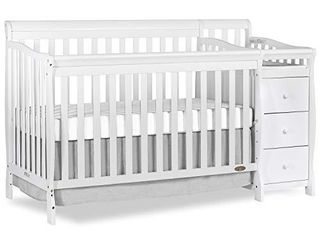 Dream On Me Brody 5 in 1 Convertible Crib   Changer   White