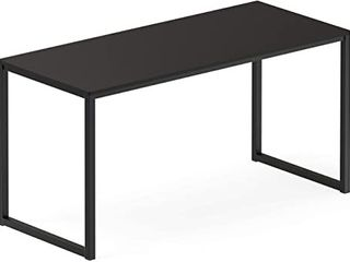 SHW Home Office   Modern Design 48  Black Computer Desk   Steel Frame w Powder Coated Finish  48  W x 23 8  D x 28  H