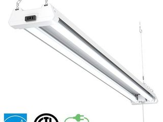 Sunco lighting 1 PACK   ENERGY STAR  ETl   4ft 40W lED Utility Shop light  4000lm 120W Equivalent  Double Integrated lED Fixture  Ceiling light  Garage  Frosted  5000K   Daylight