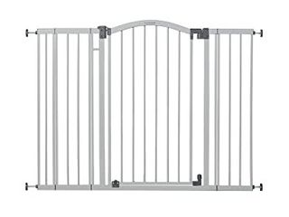 Summer Extra Tall   Wide Safety Baby Gate  Cool Gray Metal Frame a light Grey