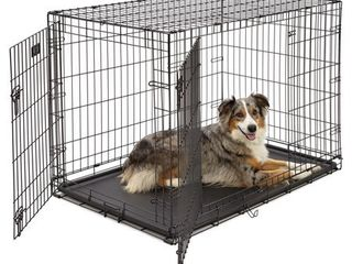 Midwest iCrate Double Door Folding Metal Dog Crate   42  x 28  x 30