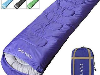FARlAND   Rectangular Mummy Double Sleeping Bag   20 Degree F Temperature Rating   for Adults  Youth    Kids   Waterproof