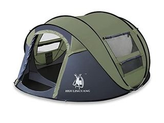 HuilingYang Outdoor Instant Pop Up Dome Tent a Easy  Automatic Setup  Ideal Shelter for Casual Family Camping Hiking