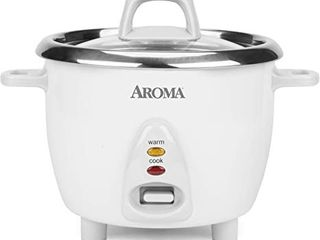 Aroma Housewares Select Stainless Rice Cooker   Warmer with Uncoated Inner Pot  6 Cup  cooked    1 2 Qt