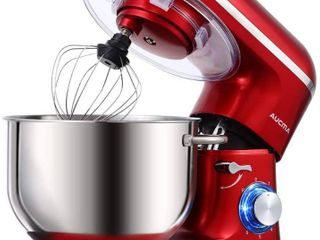 Aucma Stand Mixer   6 5 QT  660W  6 Speed  Tilt Head  Stainless Steel Bowl   Electric Mixer   Red