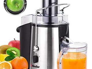 Mueller Austria Ultra   Juicer   1100W  Easy Clean  Extractor Press   Centrifugal Juicing Machine   3  Wide Feed Chute for Whole Fruit   Vegetables   Anti drip   Silver