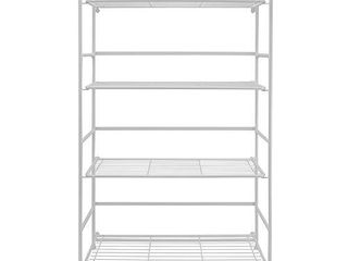 Flipshelf White Folding Metal Bookcase   Small Space Solution   No Assembly   Great for Home  Kitchen  Bathroom   Office