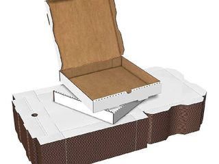 Premium 12  Pizza Box Bundle of 50   Plain White Corrugated Cardboard Take Out Delivery Containers   12  x 12 5  x 2