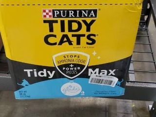 Purina Tidy Cats Clumping Cat litter  Tidy Max Glade Tough Odor Clear Springs Multi Cat litter   38 lb  Box