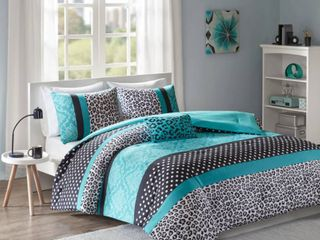 Camille Teal Comforter Set by Zone