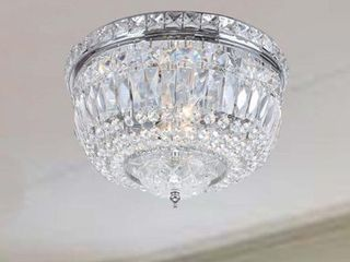 Chrome  Crystal  Flush Mount Chandelier Retail 93 99