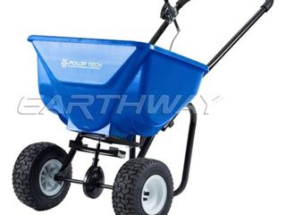 Earthway Polar Tech 50 Pound Hopper Ice and Snow Melt Broadcast Spreader  Blue
